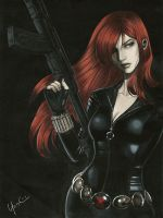 Black Widow Portrait NYCC 2014 Charity Auction by Protokitty