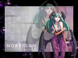 Morrigan Aensland Wallpaper Remenissions by BriellaLove