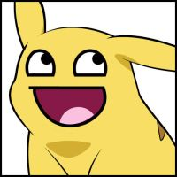 Pikachu awesome face by x-Andy-Sixx-x