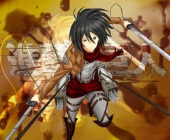 Mikasa - Attack on Titan (+Speedpaint) by Donutless