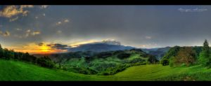 Bucegi Sunrise - Panorama HDR by vxside
