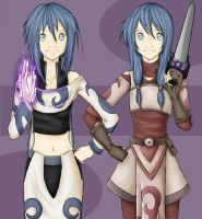 Isk and Vyra by KeatonCreature