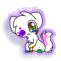 Splatter Sticker. by Hyper-Kitteh