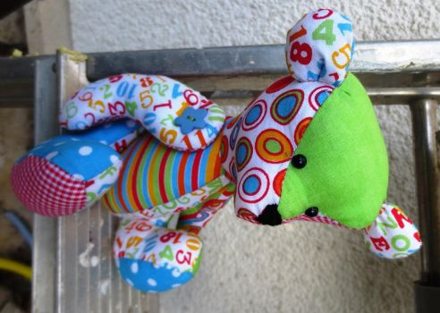 Back to School Patchwork Bear Ours Scolaire by MUbyGaelle