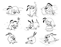 Puppy Character Study 2 by AriellaMay