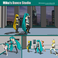 MMD Miku's Production Dance Studio by Trackdancer