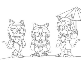 Samurai Pizza Cats Line by goaferboy