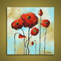 Flower Red Poppies Art by hjmart