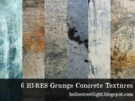 6 Free Hi-res Grunge Concrete Textures by tau-kast