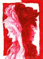 One Colour Challenge 03: Snow White and Rose Red by Checanty