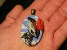 Zer0 the Assassin - 3D Pendant No.3 by Ganjamira