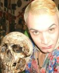 me and my skull by MushroomBrain