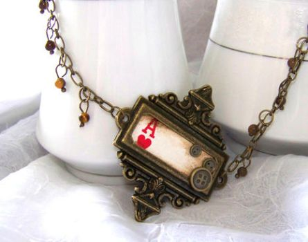 Steampunk Ace Necklace by WattCouture