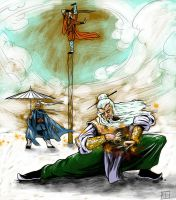 White Haired Kung Fu Masters by ADE-doodles