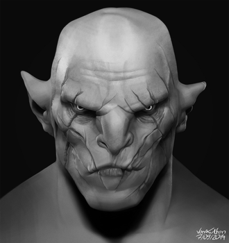 Azog the Defiler by VonKulfon