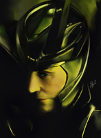 Loki iPad portrait by GreyRadian
