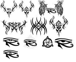 Tribal-Egyptian-Celtic tattoos by Ravenhart