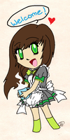 .:Little Miss Maid Colored:. by ThatOneMuffin