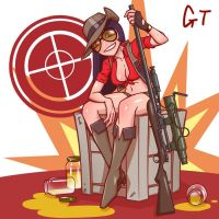 Tf2 Female Sniper by gotwin9008
