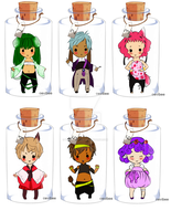 Bottled Adoptables - Prelusque set 1 by vinczu-evibee