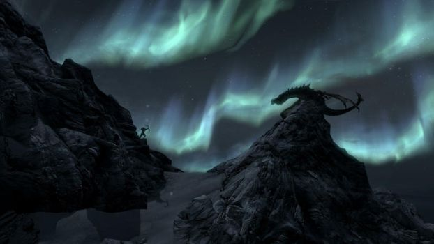 Skyrim Northern Lights by applejack324