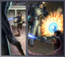 Star Wars panels by dnomaid