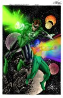 Green Latern and Dr. Spectrum by jeaf7