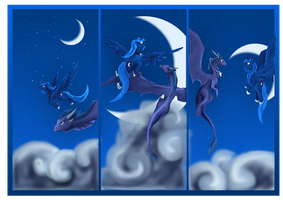 Luna and Night Dragon by Dalagar