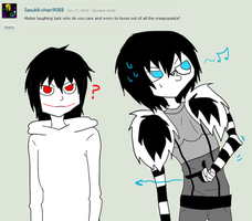Ask Laughing Jack 5-Question 30. by MikaelBratLoni