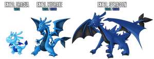 Fakemon: EX160 - EX162 Alternate Water starters 2 by MTC-Studio