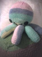 Pastel Stripy Octopus by Stitch-Happy