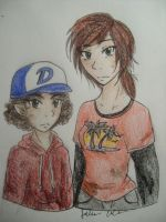 Ellie and Clementine for Amy by Bramblelace