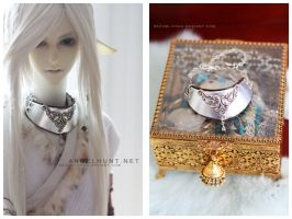Silver Filigree Gorget by Nezumi-chuu