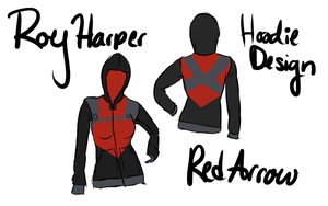Red Arrow Hoodie Design by Chibi-Aeri-Chan