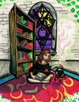 Hermione studying as always ^^ by Tamaira2011