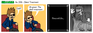 EWCOMIC No. 206 - Silent Treatment by eddsworld