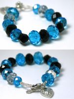 Blue Crystal Glass Bracelet by kokito85