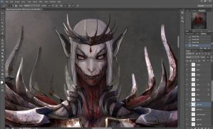 Blood Mage concept wip by EwaLabak