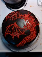 Swirly Dragon Cake by IAmNotAPorkChop