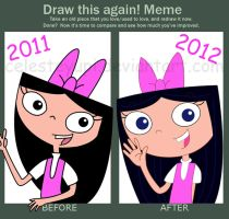 draw again meme (isabella) by celesteyupi