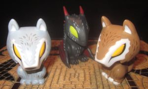 custom Game of Thrones Drogon and Direwolves by TeenTitans4Evr