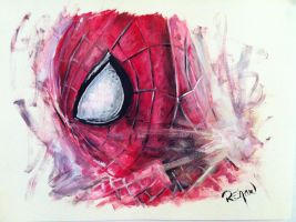 Amazing Spider-man painting by RshawArt