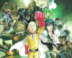 One Punch Man Wallpaper by corphish2
