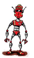 Racer-red Robot by weakcut