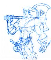 Link on Roids by Hen-Hen
