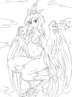 Young Harpy by LeonKatlovre