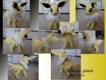 Jolteon plush v2 by Fenrienne