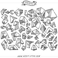 Geometric Hand Drawn Clipart Lineart by Nedti by Nedti