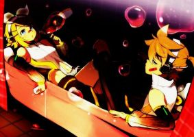 Rin and Len Kagamine bubbles by Hanabisugar90