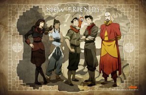 Modified New Friends poster feat. Korra Asami by useurcamera